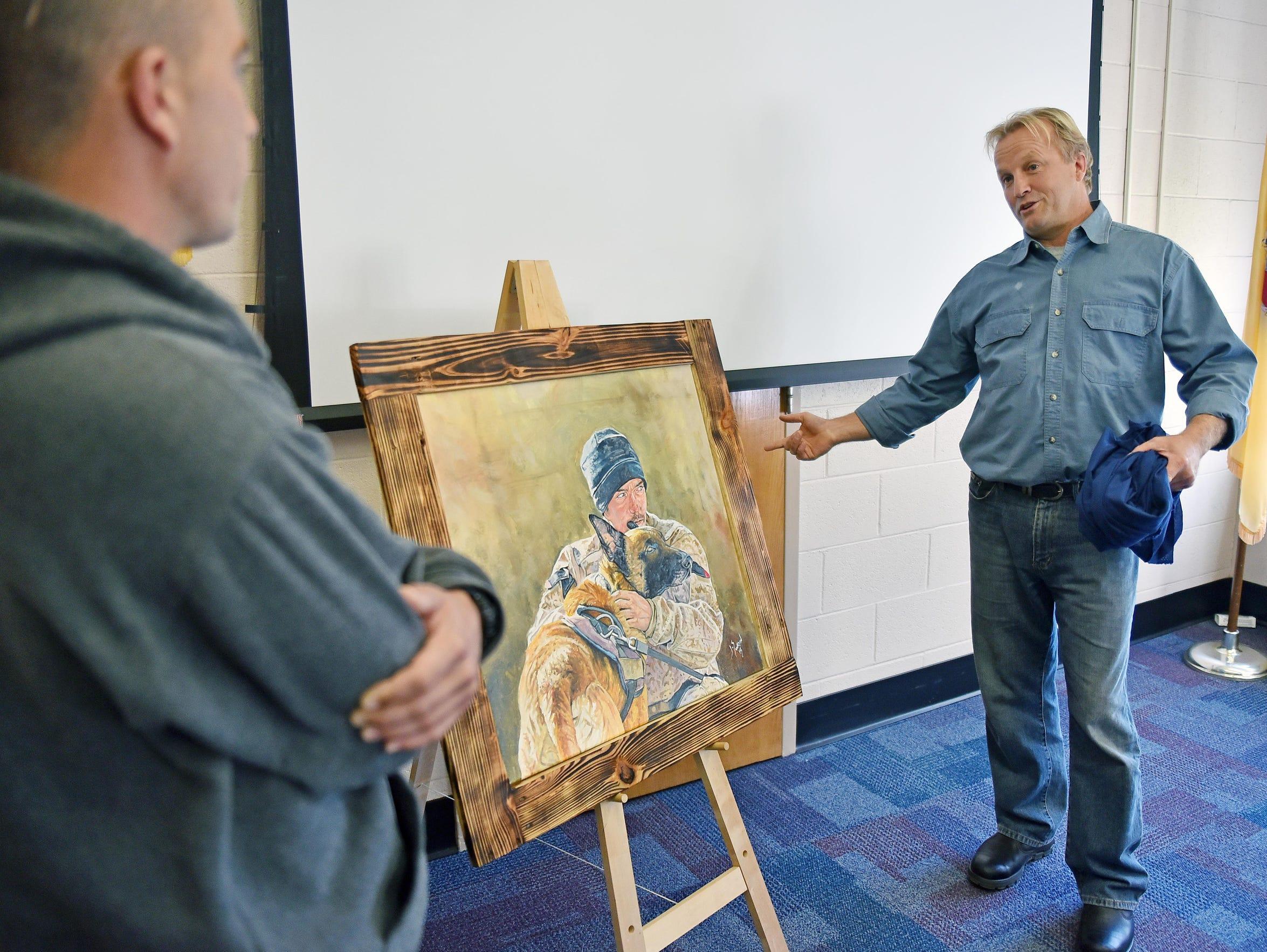 Artist  Jason Swain (right) of Kensington,MD did a