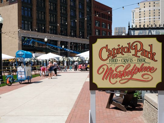 Capitol Park features more than 10 popup shops and food carts Tuesdays through Sundays.