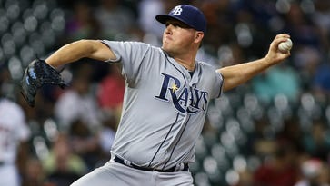 Jake McGee was traded from the Rays to the Rockies on Thursday.
