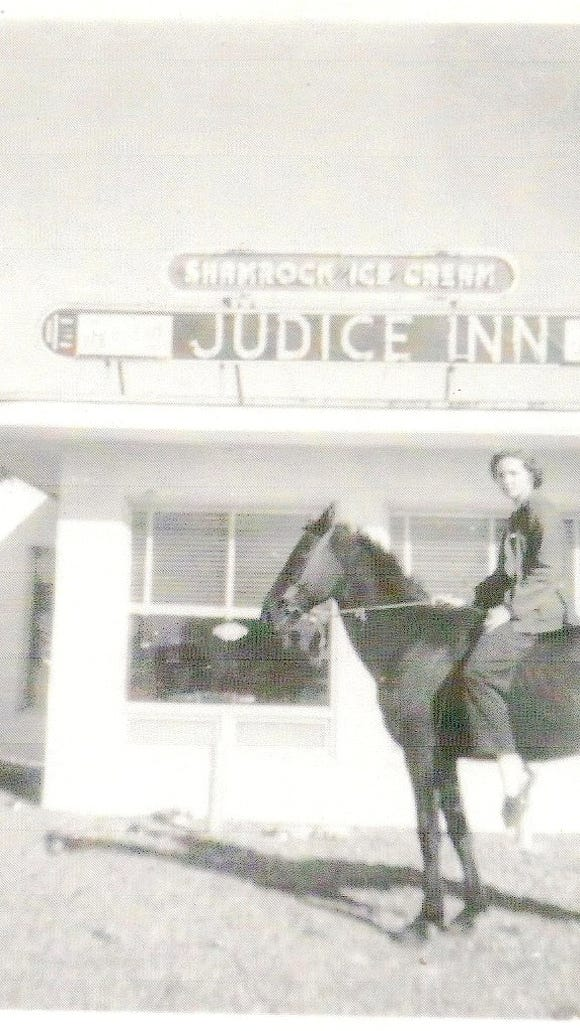 """This early photo of Judice Inn shows the place that remains famous for its hamburgers while continuing its motto of """"still no French fries."""""""