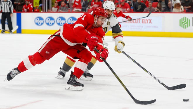 Red Wings center Dylan Larkin is a central figure in the rebuilding process.