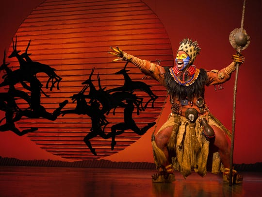 "Buyi Zama as ""Rafiki"" in THE LION KING North American"