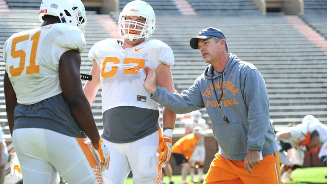 Former Tennessee offensive line coach Don Mahoney was hired to coach the same position by East Carolina on Wednesday.