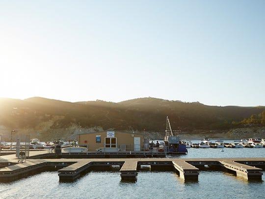 Lake Nacimiento's marina