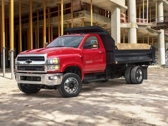 General Motors is recalling over 368,000 pickups and other trucks, including the 2019 Chevrolet Silverado 4500, shown, worldwide after 19 reports of fires caused by engine block heater cords.