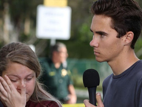 Students Kelsey Friend and David Hogg recount their stories about Thursday's mass shooting at Marjory Stoneman Douglas High School where 17 people were killed.