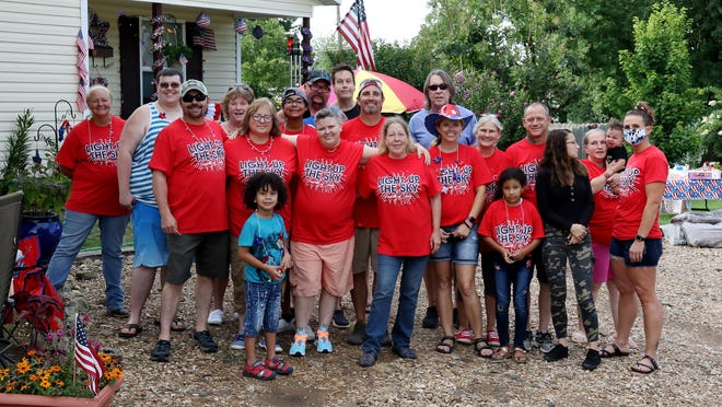 Members of the Rice-Fondren family gather, Saturday, July 4, 2020, for a cookout in the 800 block of Fort Smith.