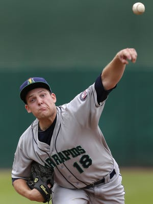 Clintonville native Luke Westphal pitched five shutout innings against the Timber Rattlers.