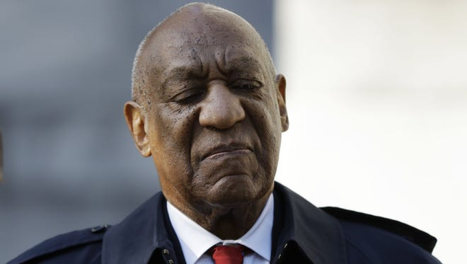 Bill Cosby pictured at the Montgomery County Courthouse in Norristown, Pa.