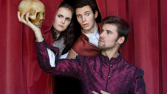 Rosencrantz and Guildenstern Publicity Shoot featuring (L-R) Franci Holland, Shane Howell and Blake Lafita.