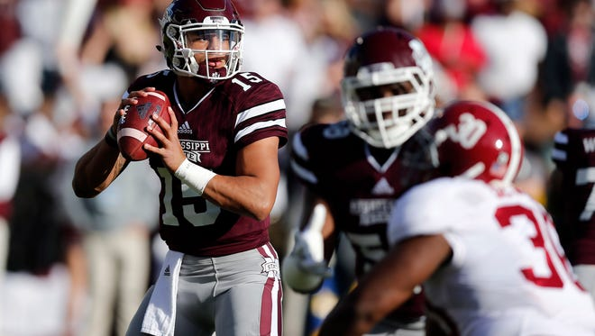 Mississippi State quarterback Dak Prescott has dramatically improved his efficiency, including lowering his turnovers, as a senior.