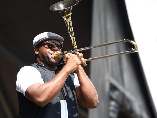 Big Sam's Funky Nation performs at Pilgrimage Music