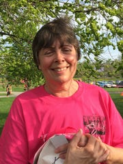 Terri Sharpe has been a regular for the past few years at the Breast Cancer Coalition of Rochester Pink Ribbon Run & Family Fitness Walk.