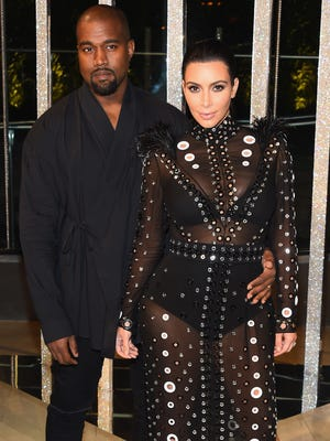 Kanye West and Kim Kardashian attend the 2015 CFDA Fashion Awards at Alice Tully Hall at Lincoln Center on June 1, 2015 in New York City.