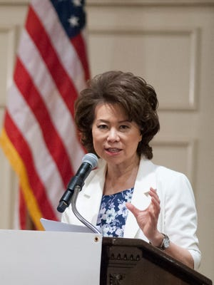 U.S. Secretary of Transportation Elaine Chao speaks at a Greater Louisville Incorporated luncheon at the Brown Hotel.14 July 2017