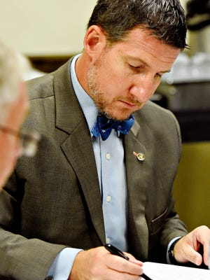 York County Solicitor Glenn Smith during a Prison Board Meeting at York County Prison in Springettsbury Township, Tuesday, Oct. 10, 2017. Dawn J. Sagert photo