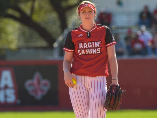 UL pitcher Macey Smith, during her first career win