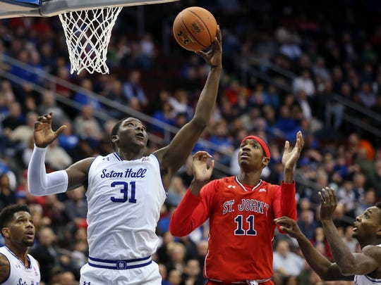 Seton Hall's Angel Delgado (31) led the nation in rebounding