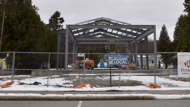 Steel beams have been erected this past week for the new home of Door County Brewing Co., 8099 Wisconsin 57, Baileys Harbor. The building will feature a tap room and brewery.  The building is planned to be finished by late spring.