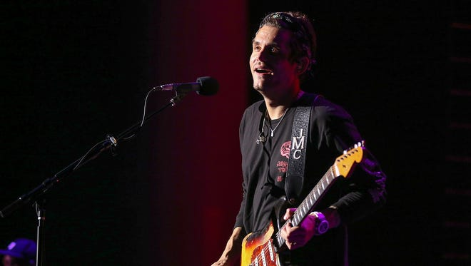 """John Mayer performs at Klipsch Music Center on """"The Search For Everything"""" world tour, Noblesville, Ind., Sunday, September 3, 2017."""