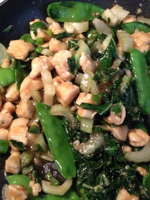 bok choy snap pea chicken stir fry