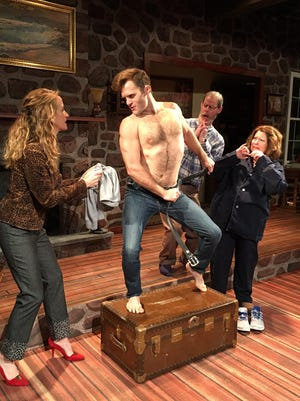"Heidi Weeks, Jake Wentlent, Tom Byrn and Carol Hanscom star in the Cider Mill production of ""Vanya and Sonia and Masha and Spike."""