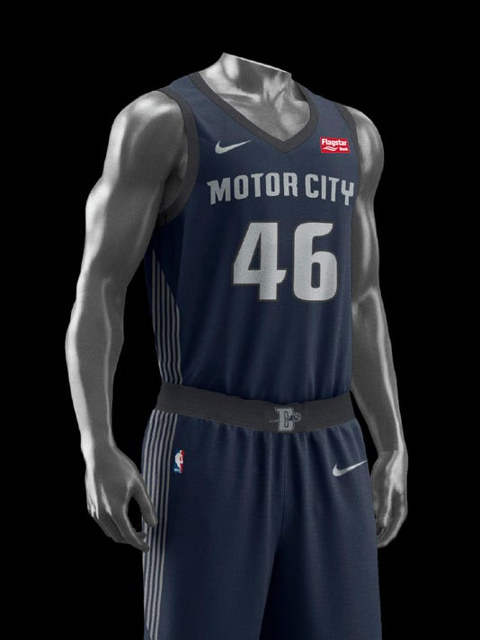 quality design 2e691 65afc Check out the Detroit Pistons' new City Edition jersey
