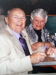 Dean Snyder, left, and his wife, Joanne, are shown