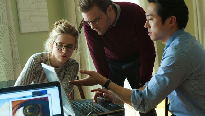 """Brit Marling, Michael Pitt and Steven Yeun in a scene from """"I Origins."""""""
