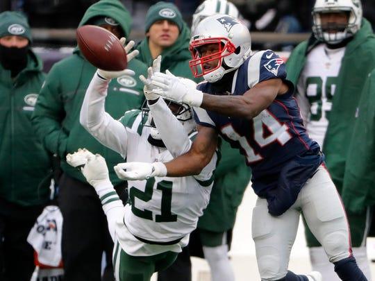 Dec 31, 2017; Foxborough, MA, USA; New York Jets cornerback
