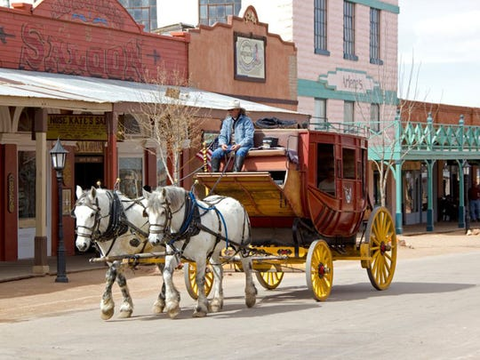 Old Tombstone Tours offers narrated stagecoach tours through town.