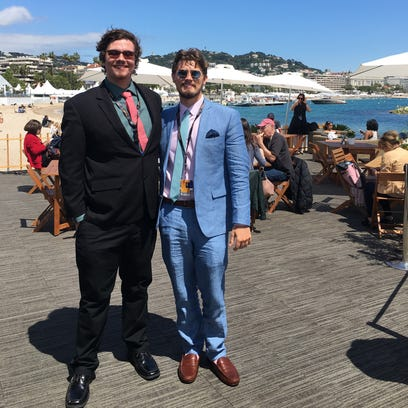 Nick Markart and Tyler Knutt at the American Pavilion