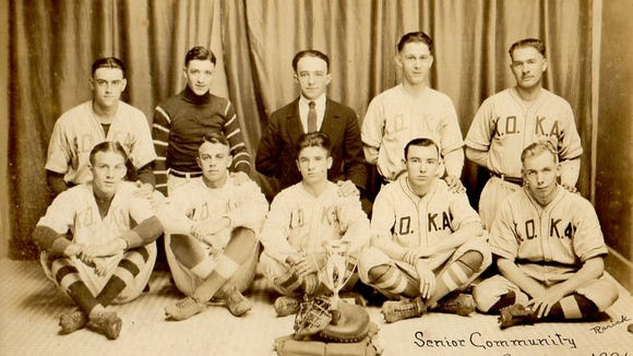 Sharon Mindemann of Thomasville shared this photo that includes her grandfather, Elvin Ira Diehl, who played for several local baseball teams. She's looking for more information on any of the three teams her grandfather played for.