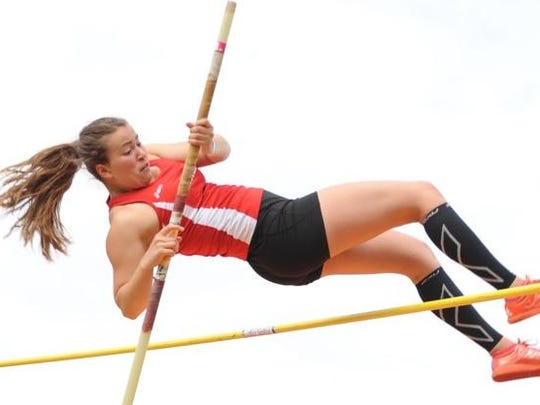 Churchill's Elisabeth placed fourth in the Division 1 regional pole vault competition.