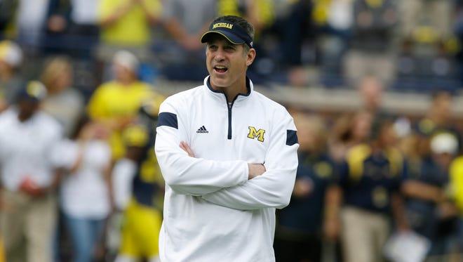 Michigan offensive coordinator Doug Nussmeier.