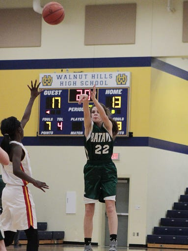 Taylor Myers of Batavia puts up a 3-pointer in Thursday's