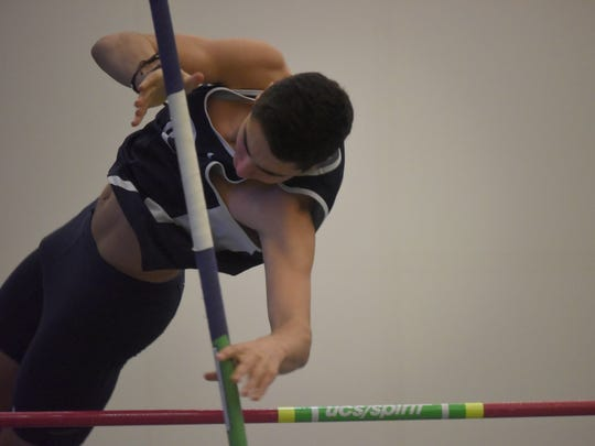 Jason Tomaino, Randolph, Pole Vault  The Morris County Track and Field Championships.