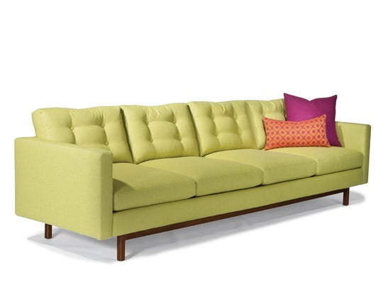 A chartreuse and yellow color scheme were the brainchild of Sam, who considered himself a decorator.
