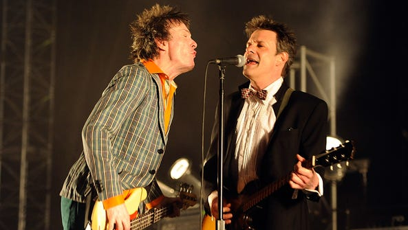 Tommy Stinson (left) and Paul Westerberg of The Replacements