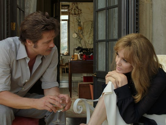 """Brad Pitt and Angelina Jolie in """"By the Sea."""""""