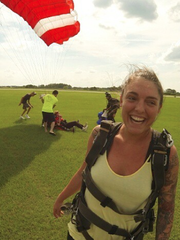 "Megan's ""success"" picture, living a sober life and skydiving."