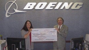 Photo From Left: Boeing's Deborah Kelly and BCA Director Neil Levine