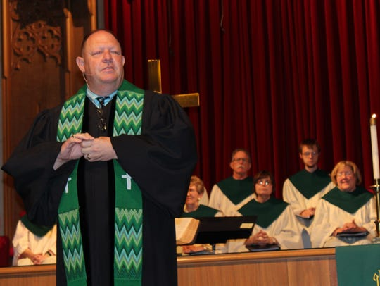 The Rev. Gary Boles addressed his new congregation June 25 2017, at Aldersgate United Methodist Church. He is departing Abilene this summer for Floydada.