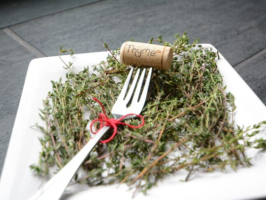 Use a vintage fork and a wine cork to make a shabby-chic