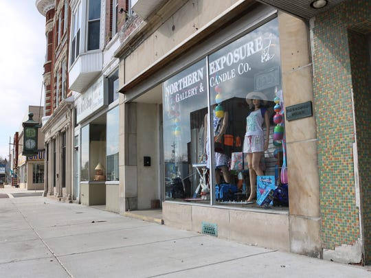 Northern Exposure Gallery & Candle Co. received a downtown improvement grant from Main Street Port Clinton for front façade improvements.