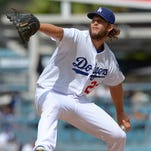 Dodgers starting pitcher Clayton Kershaw in the first