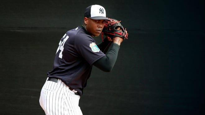 Aroldis Chapman returns to the Yankees after tending to a personal matter.