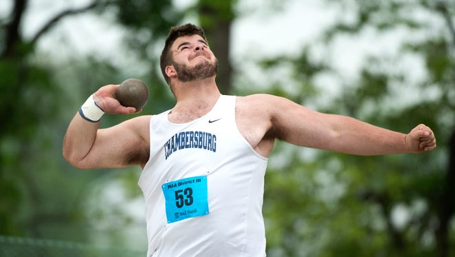 Chambersburg's Brock Harmon is off to a strong start to his 2019 track and field campaign.