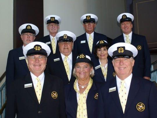 Front row, left to right: Bob Winterhalter, Lois Dixon, Jeff Comeaux. Center row: Richard Blauw, Chuck Downton, Kathy Hershberger. Back row: Gary Riss, Jim Olmes, Chip Pittman.