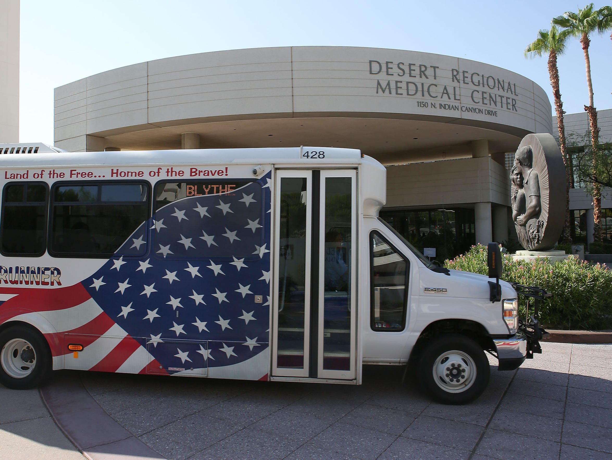 The Blythe Wellness Express brings patients from Blythe